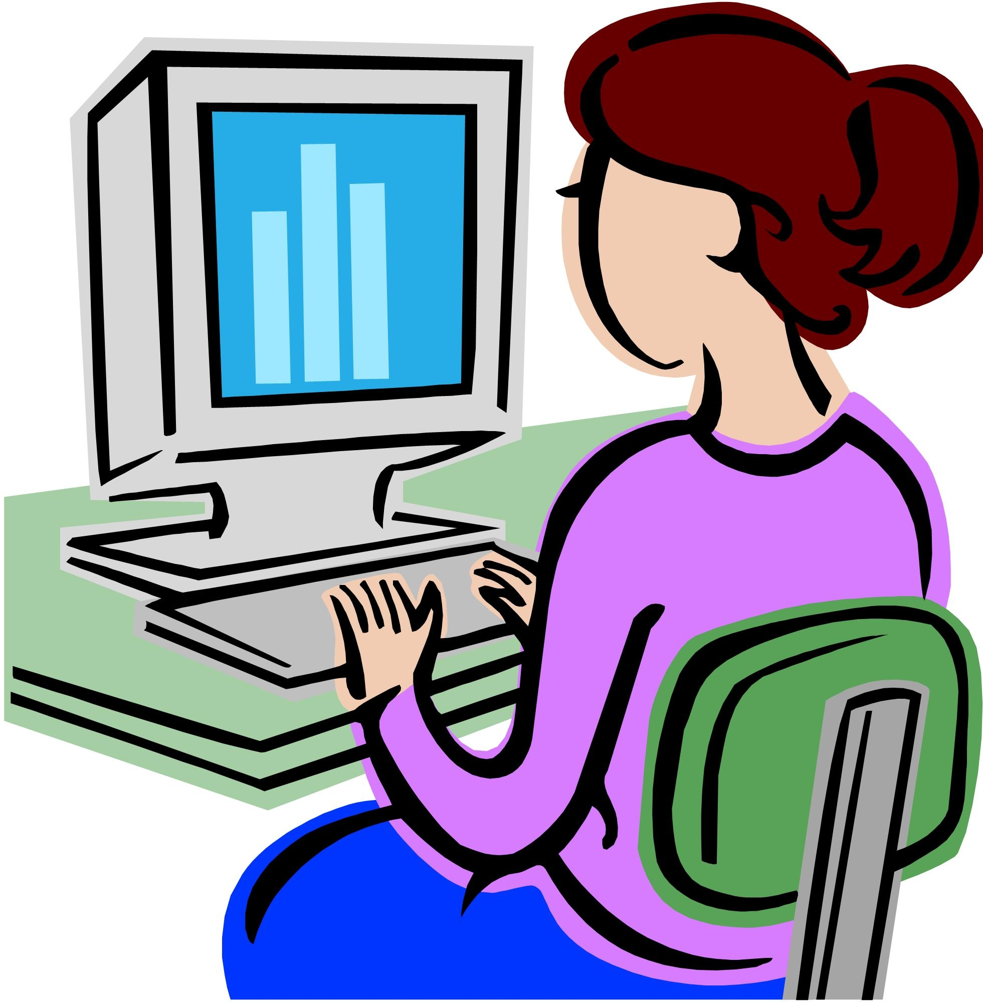 Typing clipart computer institute