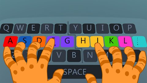 typing clipart home row