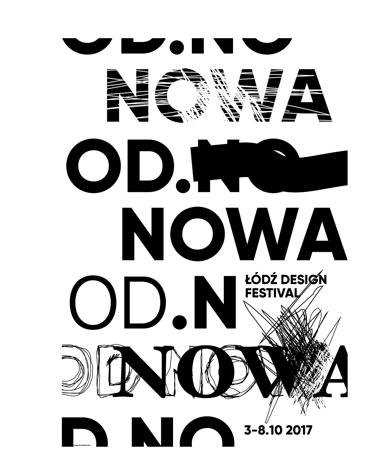 Typographic drawing text. Typography poster d design