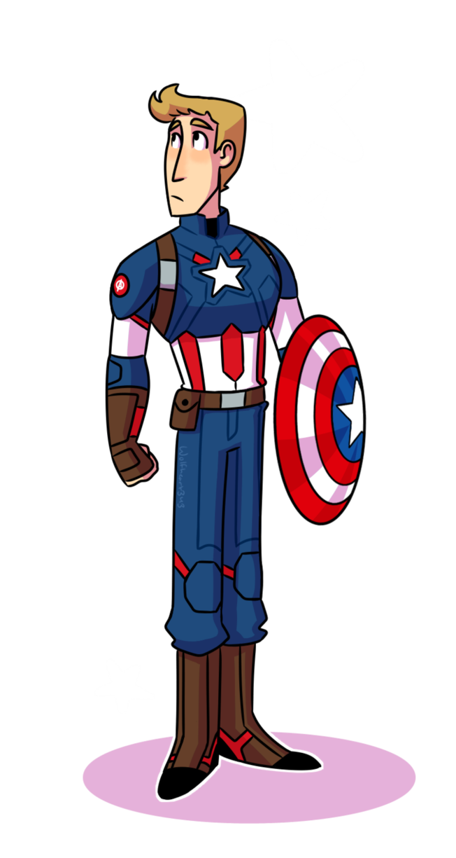 Typographic drawing captain america. Mcu doodle by wolfheart