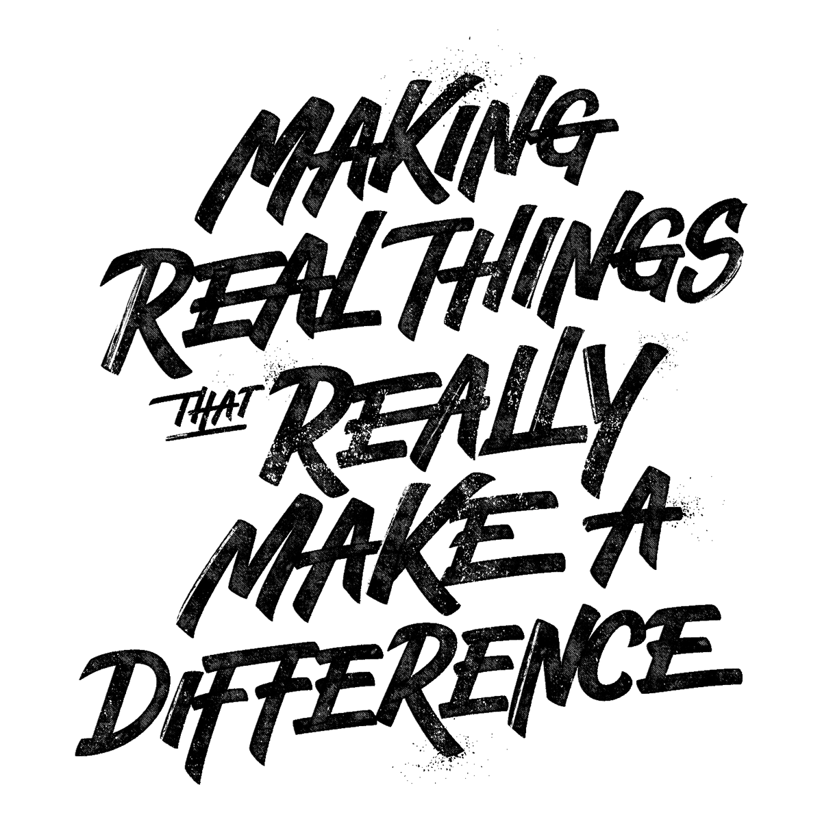 Typographic drawing creative. Lettering phrases for tuthill