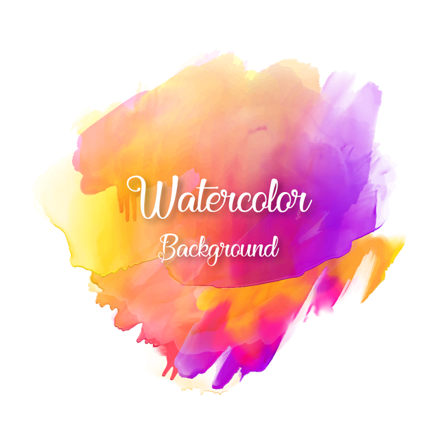 Typography vector. Colorful abstract watercolor background