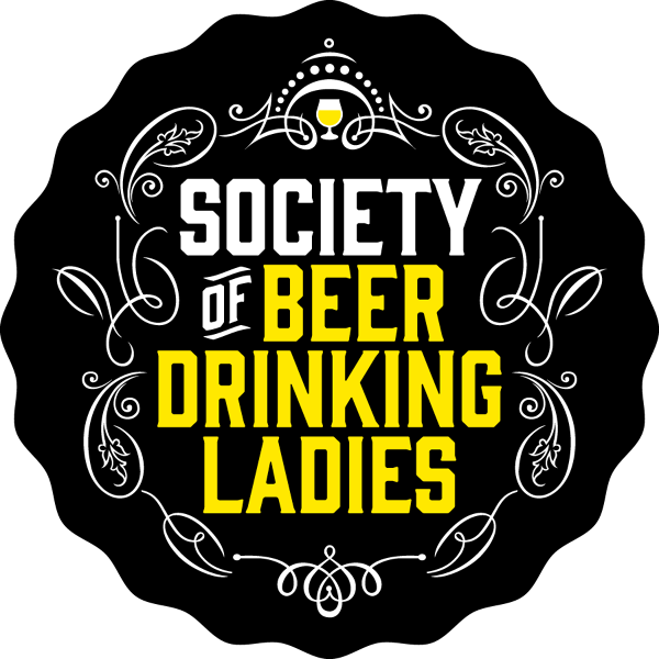 Typography vector beer. Society of drinking ladies