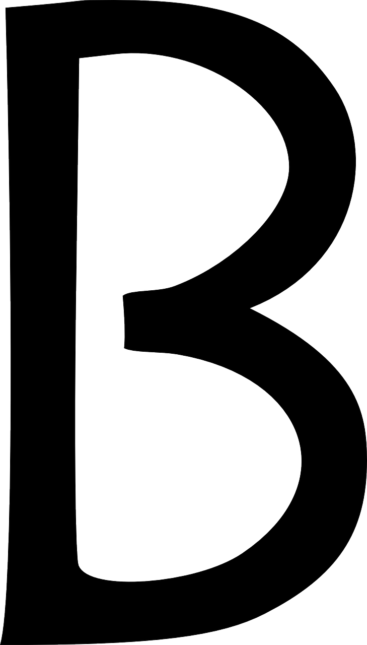 Vector type alphabet. Letter b typography collection