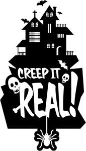 Keep it real logo. Typography vector black and white stock