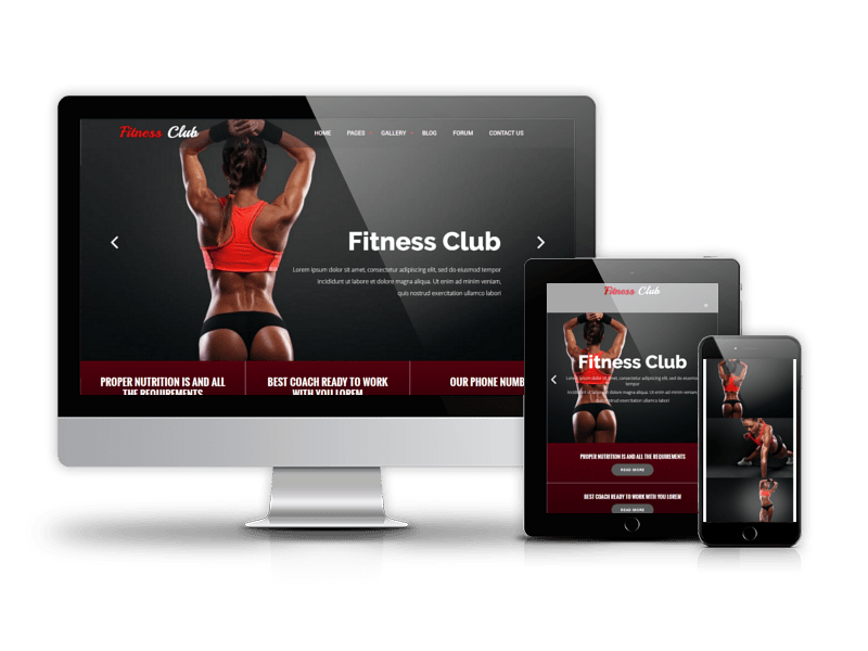 Typography vector fitness. Club sport drupal theme