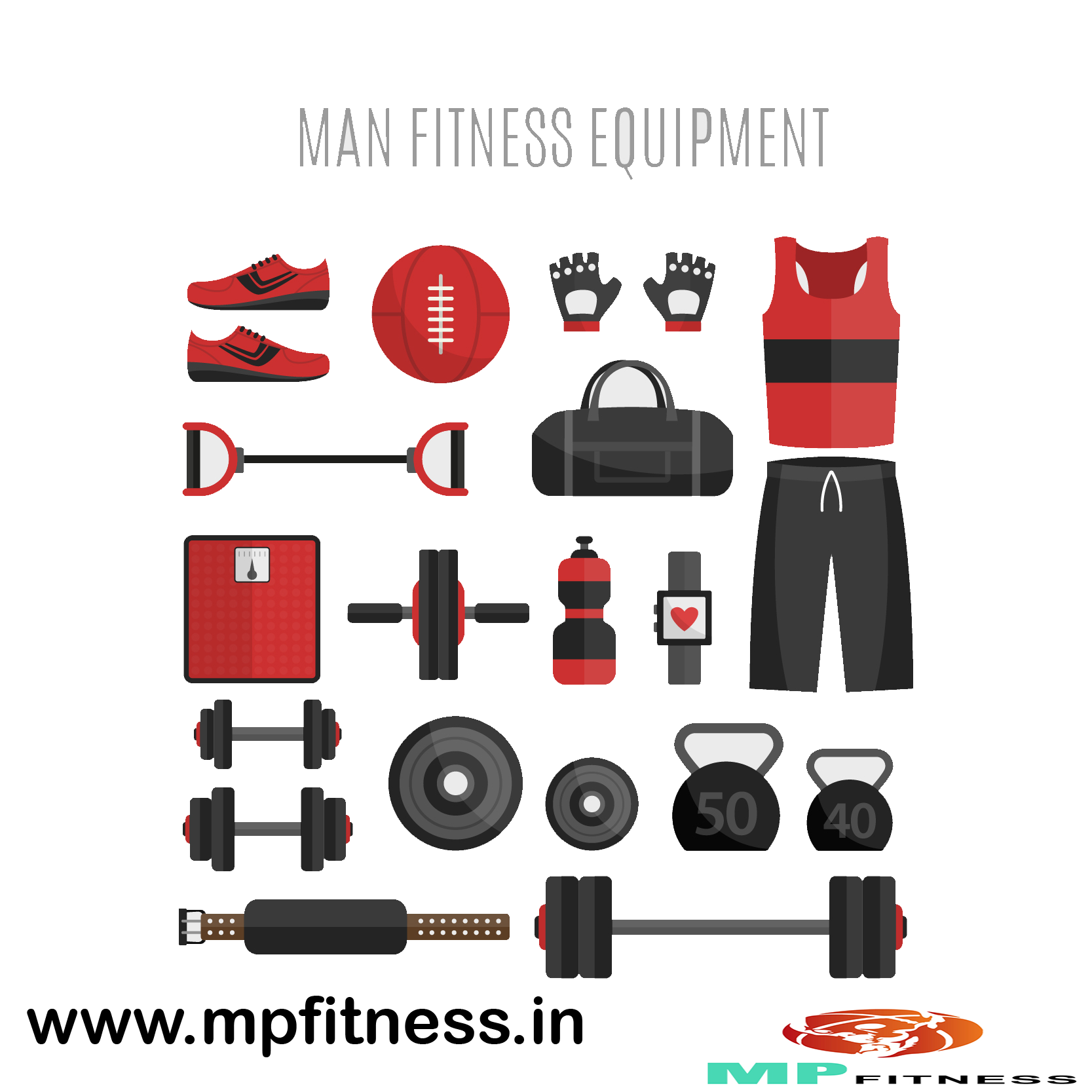 Typography vector fitness. Get finest gym equipments