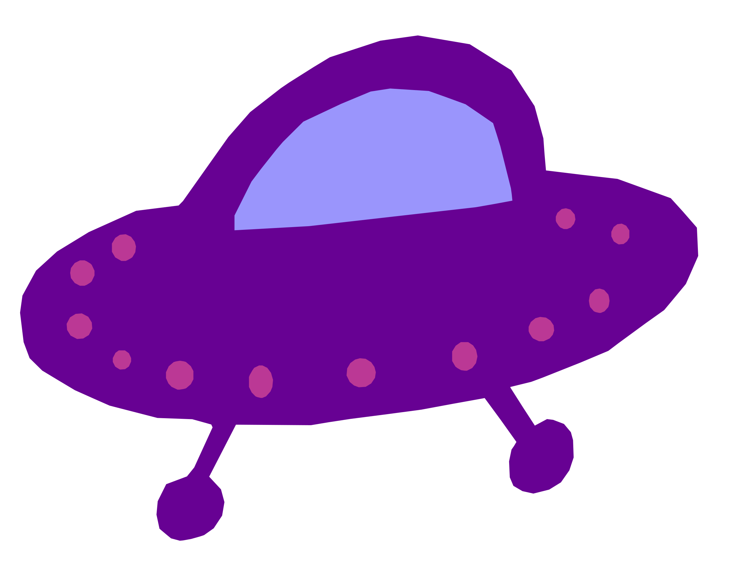 Vector ufo colourful. Purple refixed icons png