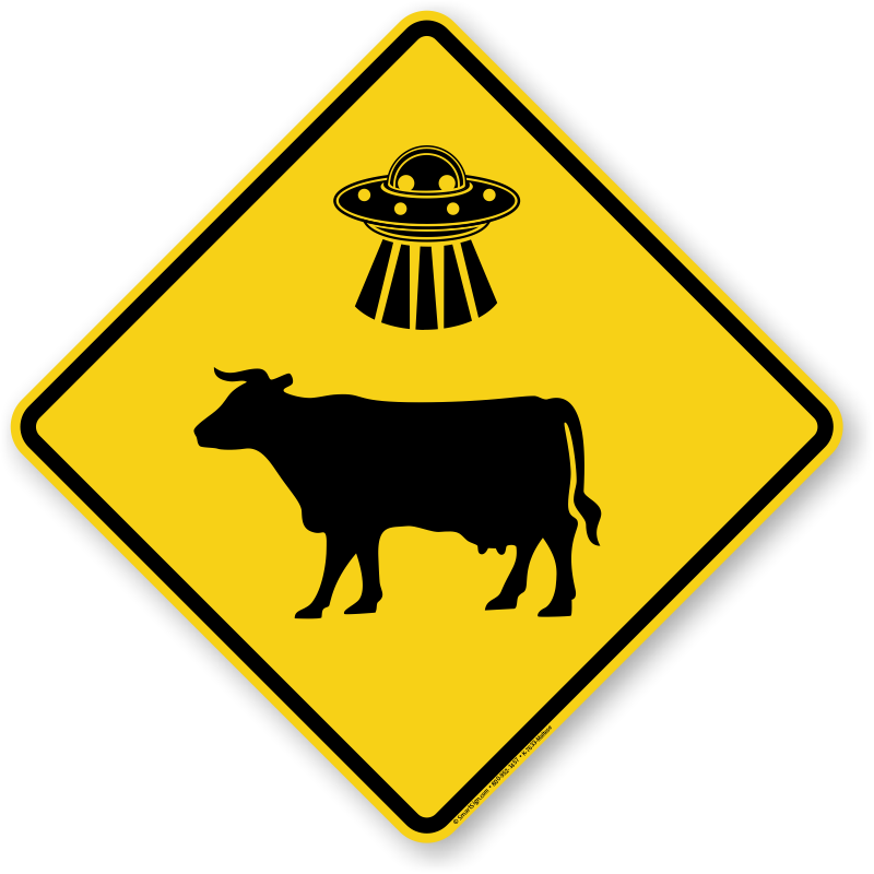 Ufo clipart ufo abduction. Cow abductions here sign