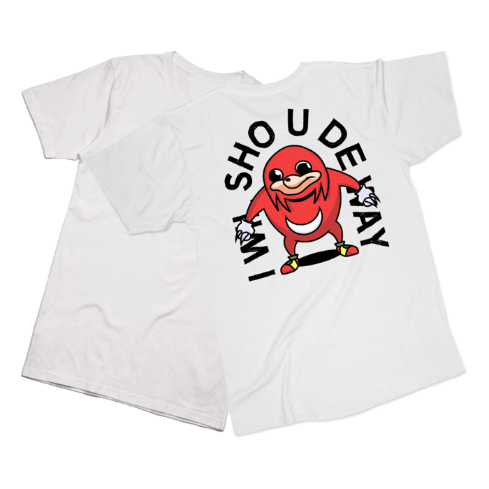 Ugandan knuckles tribe png. T shirt hundred tee