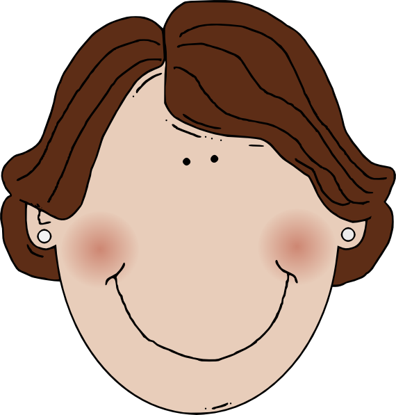 Ugly girl png. Brown hair clipart