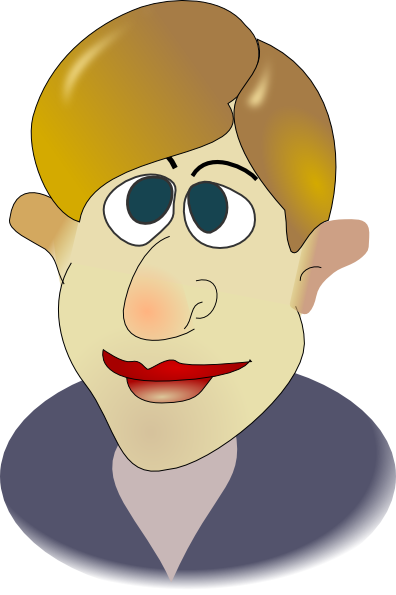 Ugly guy clipart . Dab vector cartoon person graphic library library