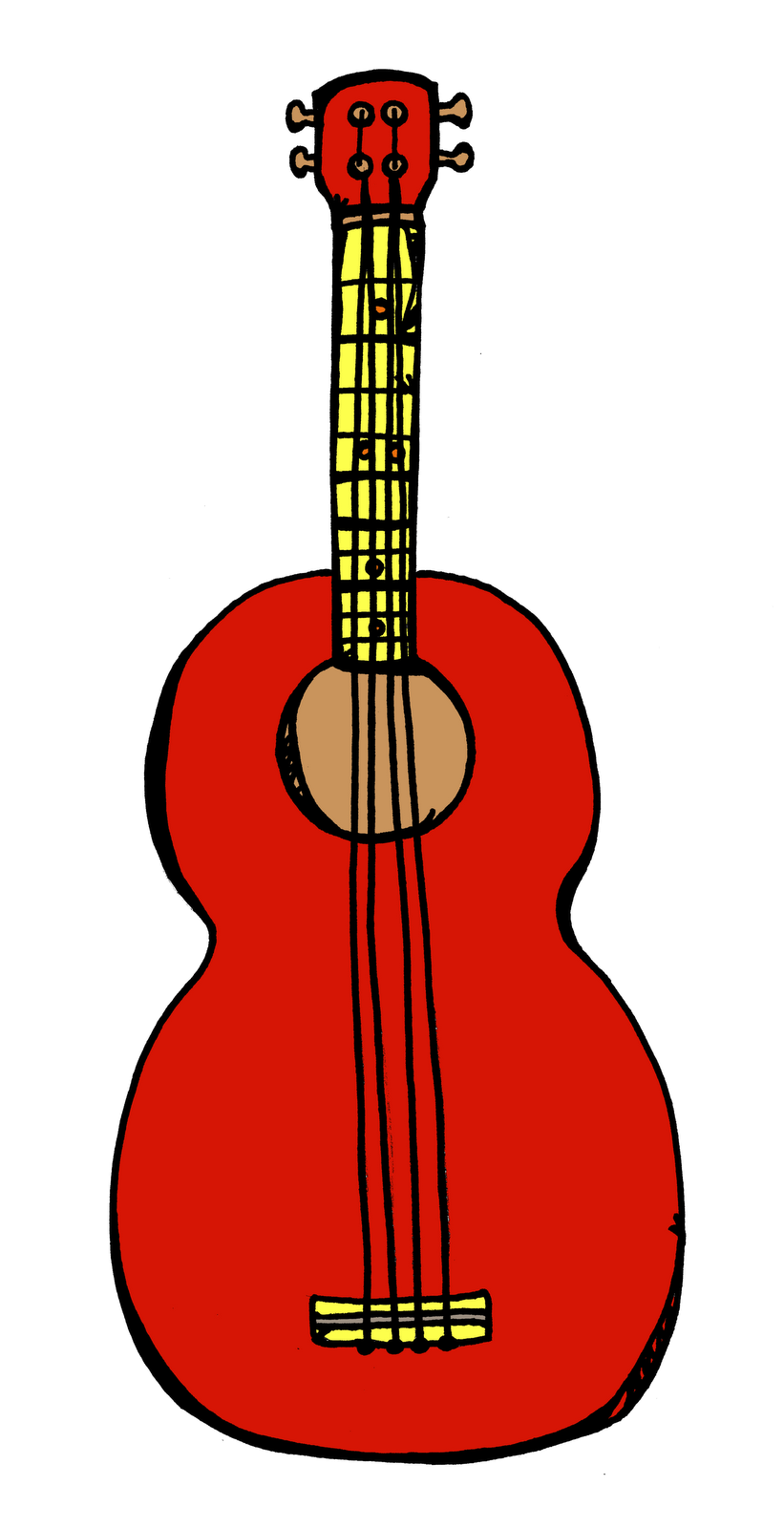 Ukulele vector tropical. Clipart id pictures