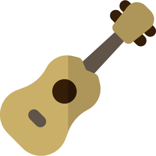 Ukulele vector tropical. Musical instruments icon