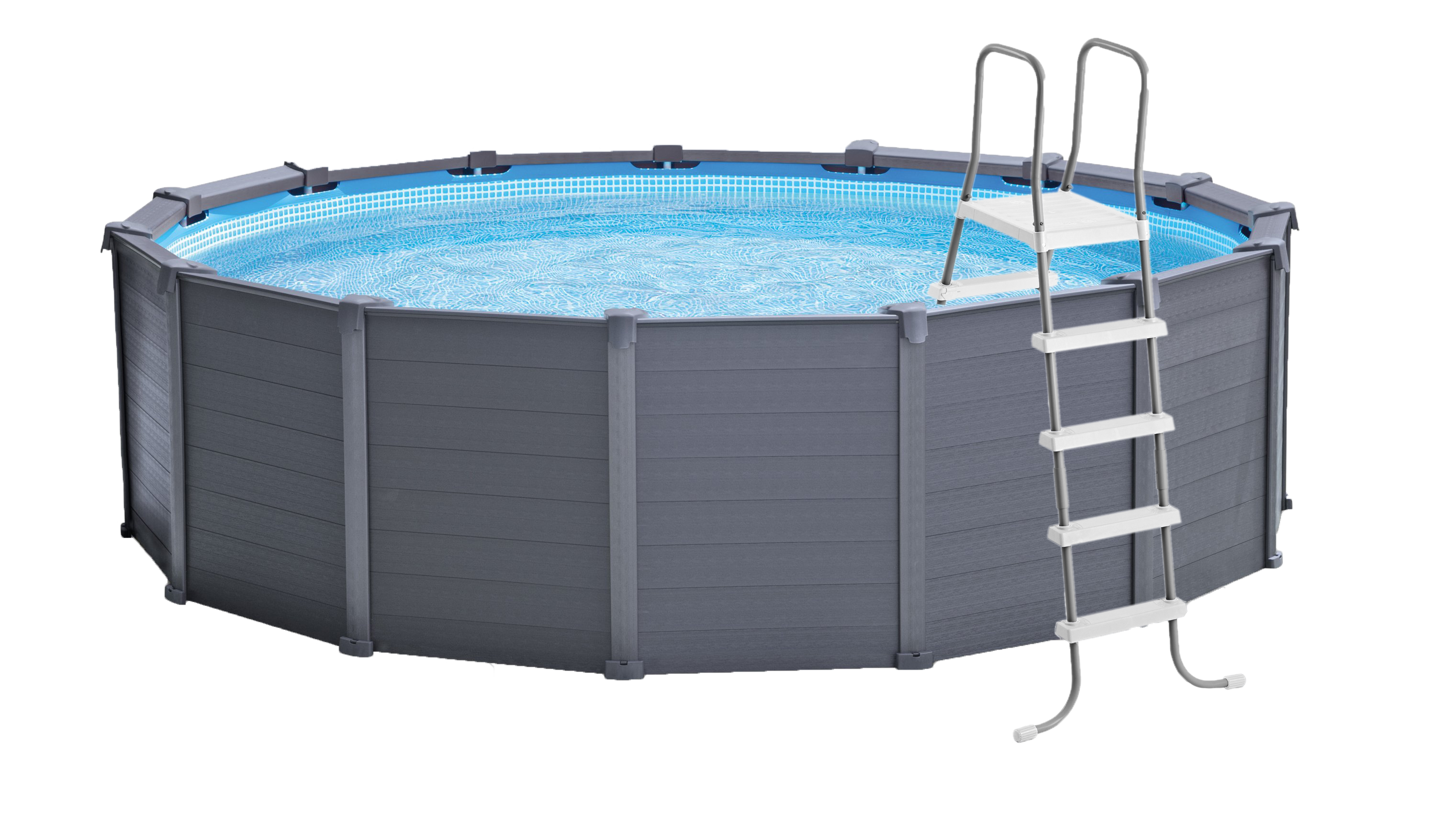 Ultra frame round pool png. Sequoia graphite panel pools