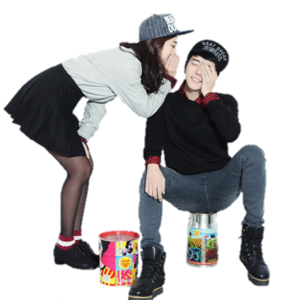 Ulzzang couple png. By seouleater on deviantart
