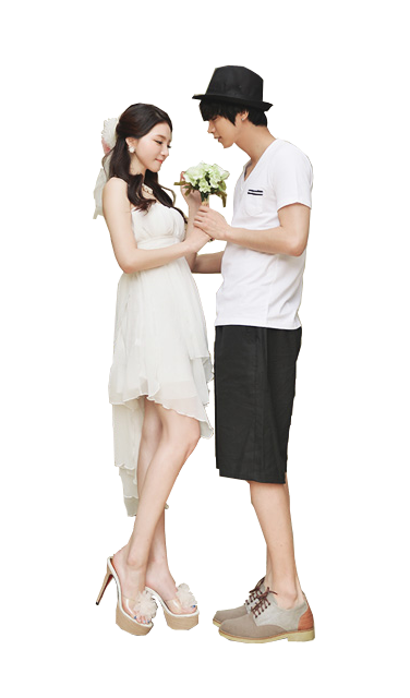 Ulzzang couple png. By aeggyo on deviantart