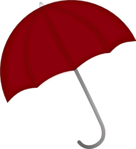 Umbrella clip clipart. Red art at clker