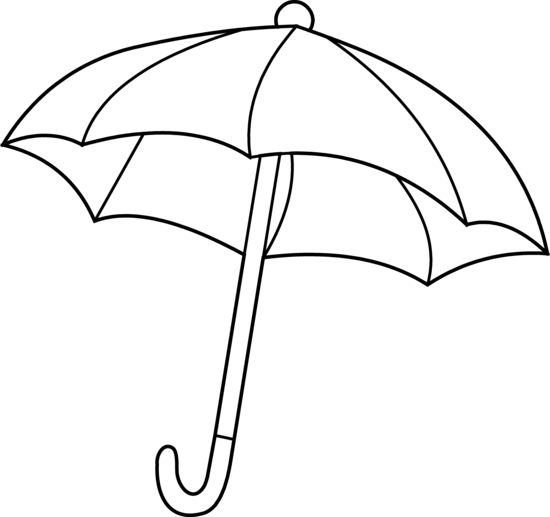 Umbrella clip coloring page. Free art