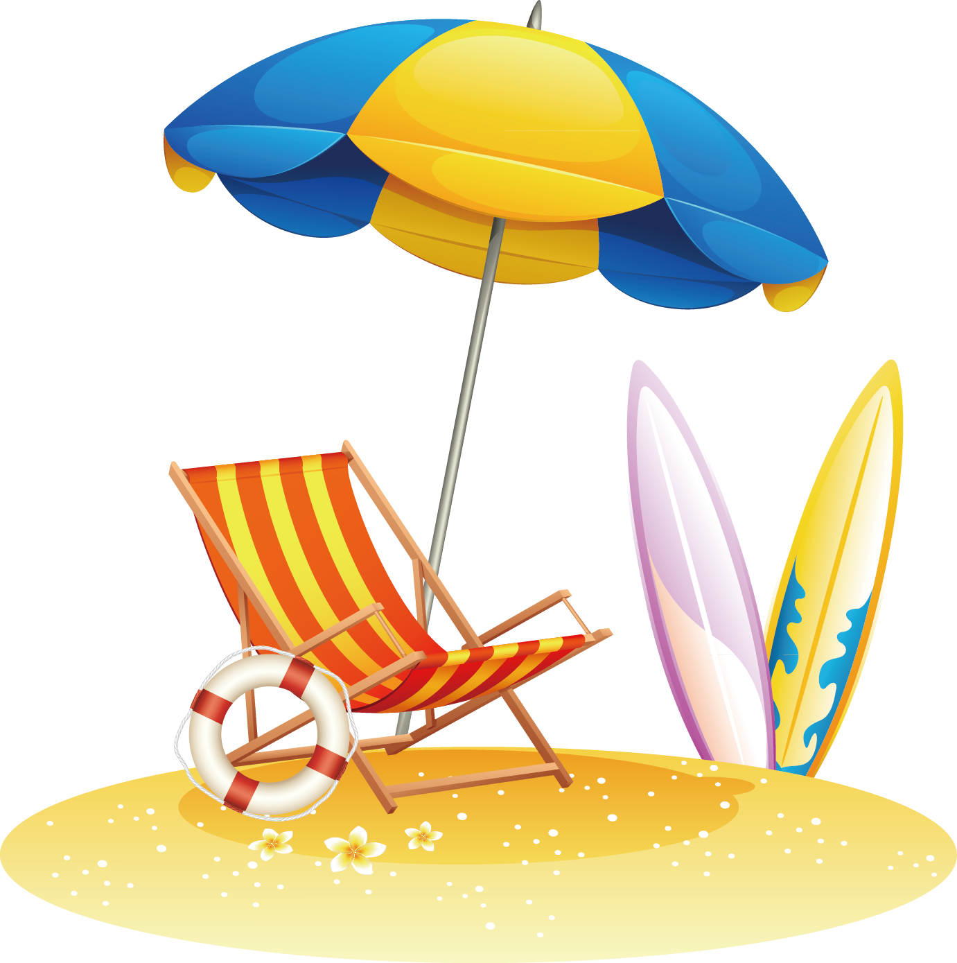 Umbrella clip photographer. Beach royalty free stock