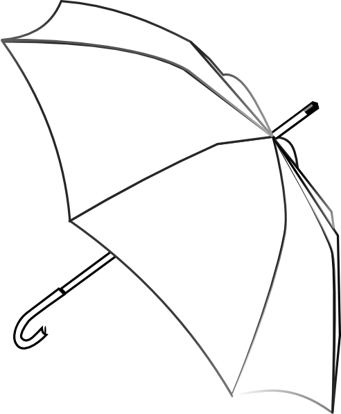 Umbrella clip photographer. Outline art at clker