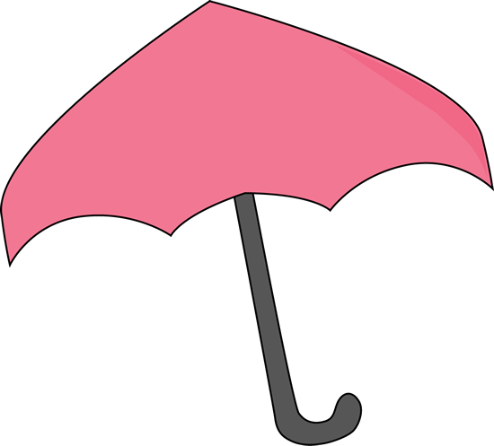 Umbrella clip unbrella. Pink art image with
