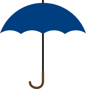 Umbrella clip umbrealla. Dark blue clipart