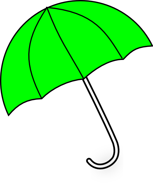 Clip umbrellas large. Apple green umbrella art