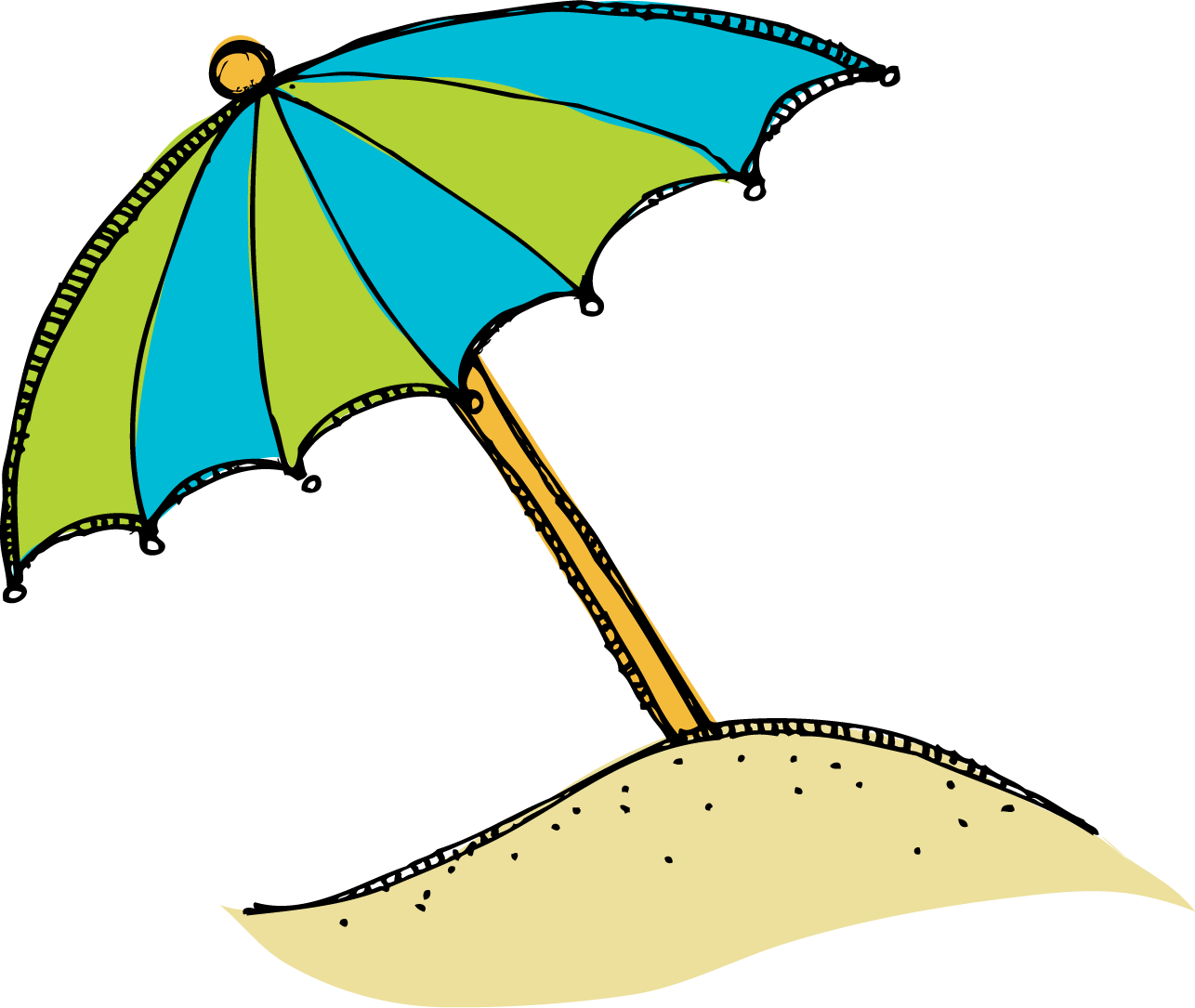 Umbrella clipart clip art. Summer beach bay