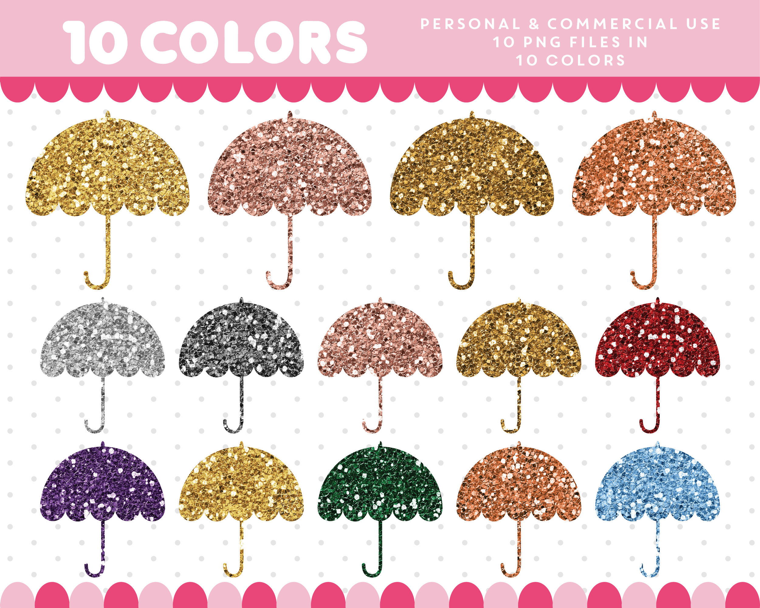 Umbrella clipart file. Glitter gold silver this
