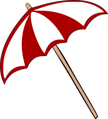 Umbrella clipart file. Beach silhouette at getdrawings