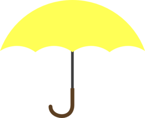 Umbrella clipart file. Yellow