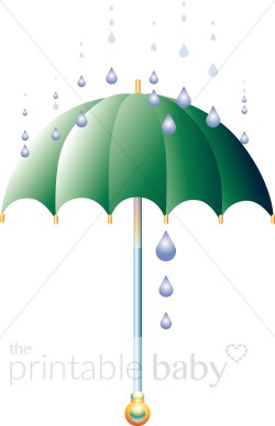 Umbrella clipart printable. Baby shower party