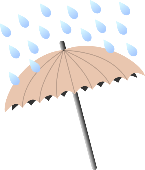 Umbrella clipart raindrops. Brown with be your