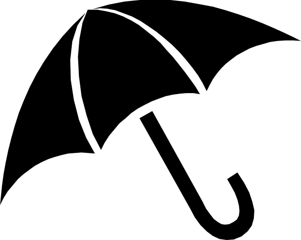 umbrella clipart silhouette