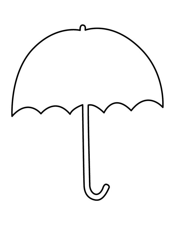 Umbrella clipart umbrellablack. Coloring pages alkuopetusideat pinterest