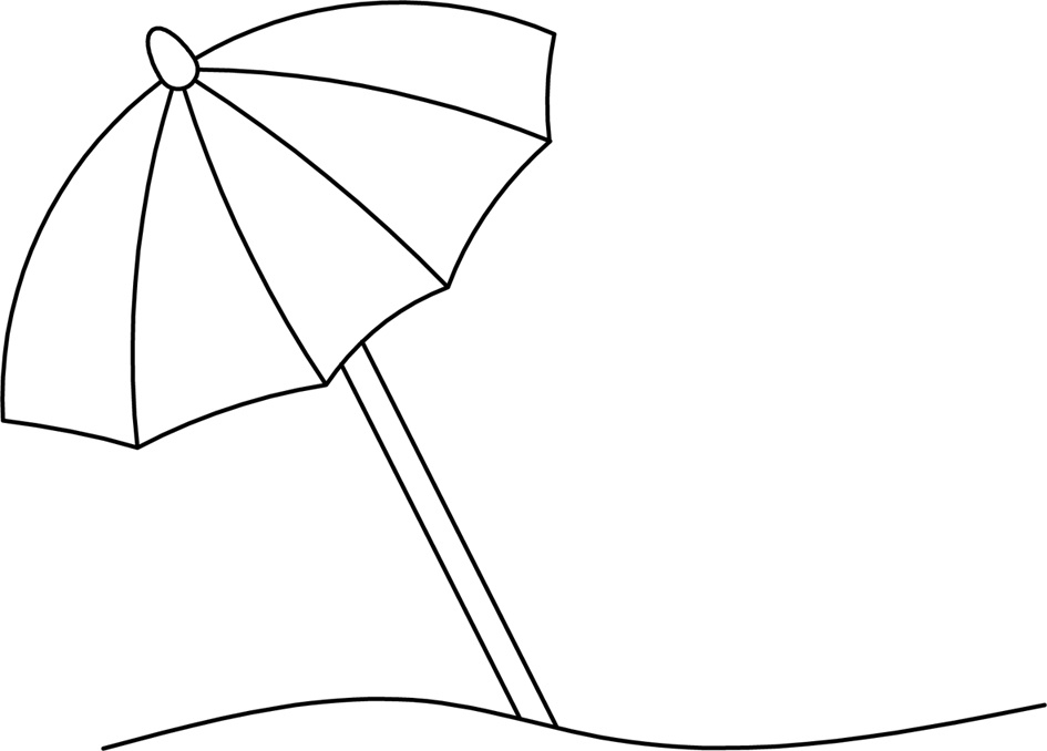 Umbrella clipart umbrellablack. Beach black and white