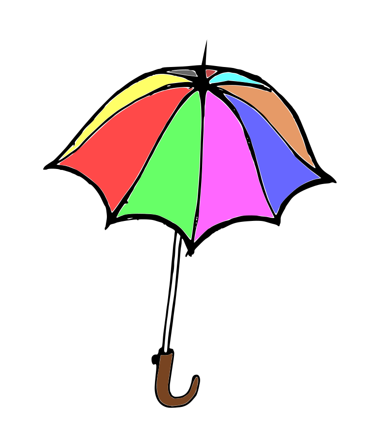 Umbrella clipart unbrella. Cover pencil and in