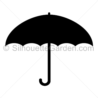 Umbrella silhouette png image black and white