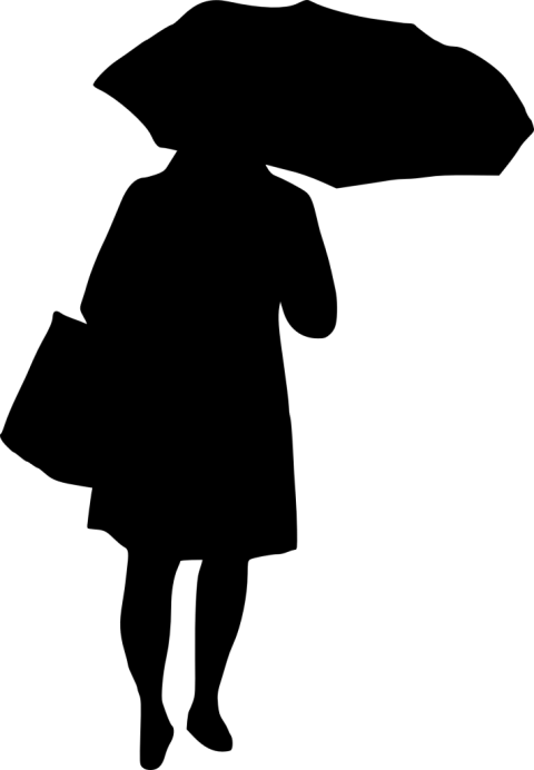 Woman free images toppng. Umbrella silhouette png clip free stock