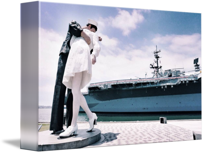 Unconditional surrender statue png. By jay t
