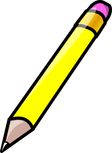 Under the clipart pencil. Free yellow cliparts download