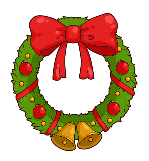 Under the clipart wreath. Free christmas cliparts download
