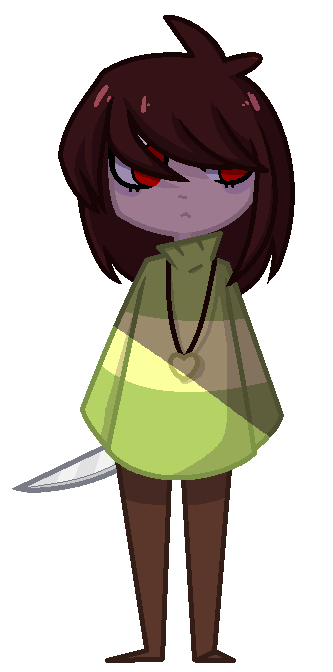 Undertale chara png. By honyhonn on deviantart