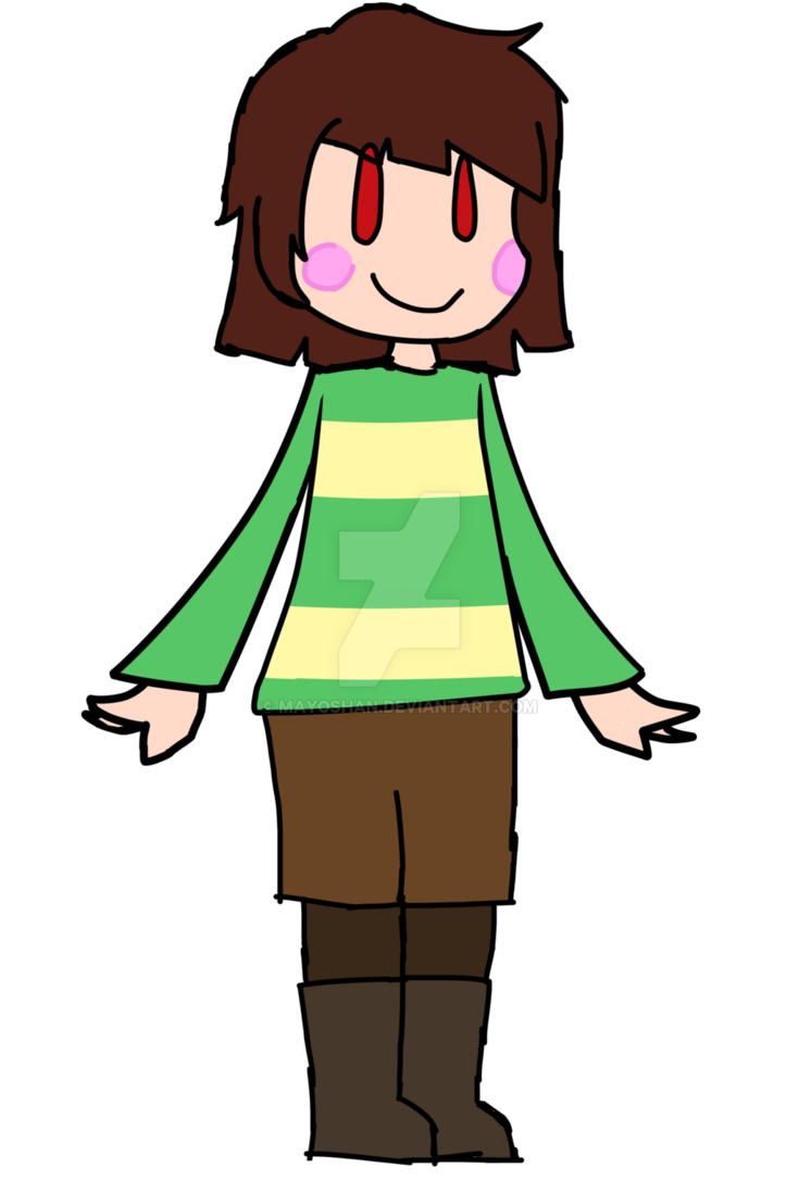 Undertale chara png. Spoilerish by mayoshan on