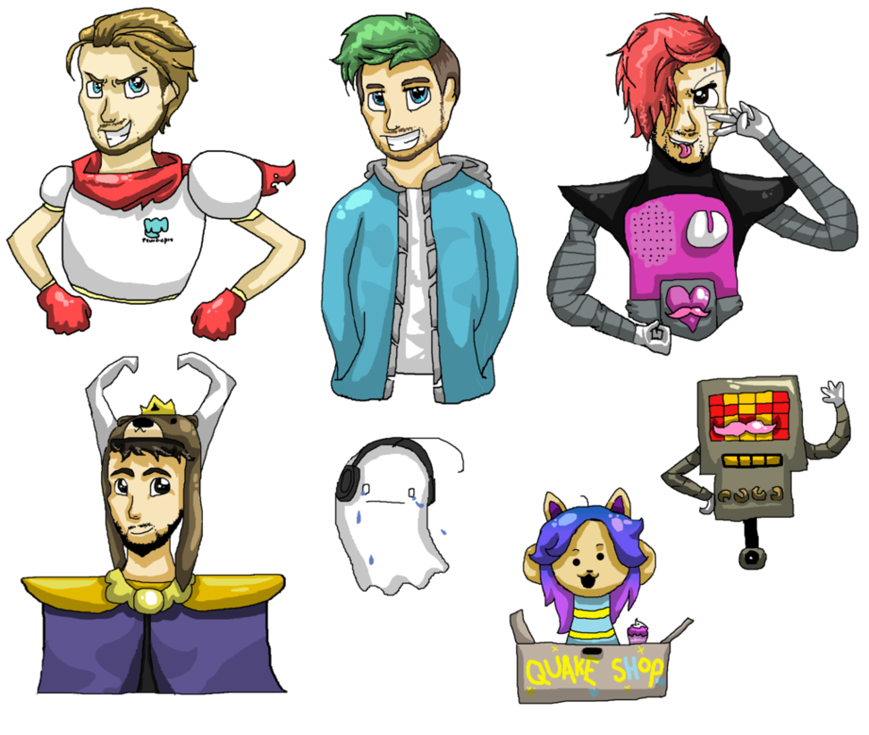 Undertale character png. Youtubers as characters by