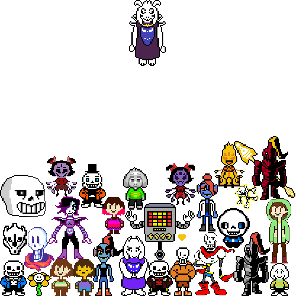 Undertale character png. Draw an ye contest