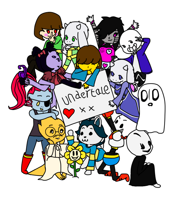 Character transparent undertale. Image characters by datponyindacorner