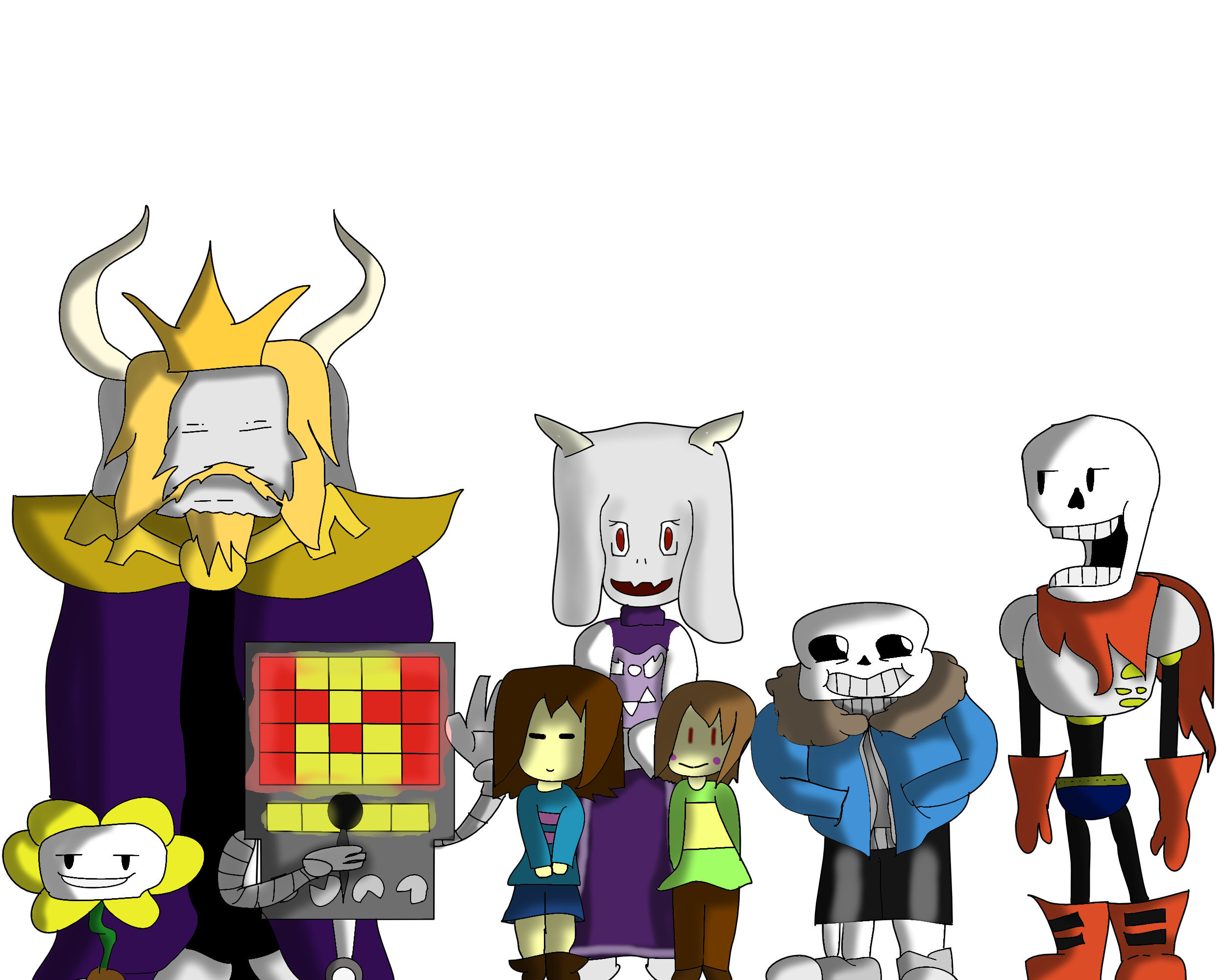 Undertale characters png. Part by regular tomato