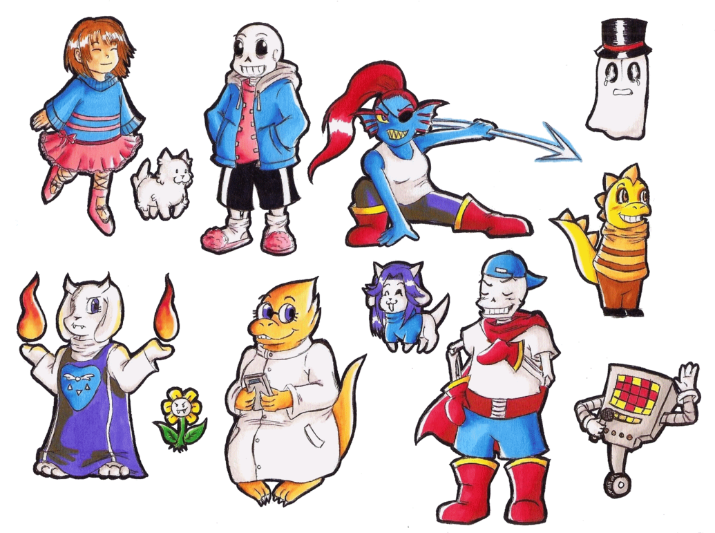 Undertale characters png. By rukia du on
